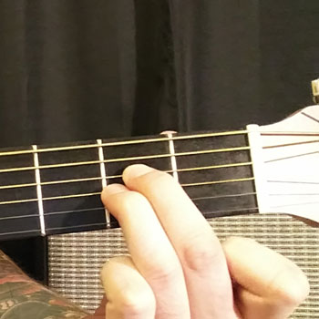Example of How to Play an A Power Chord on the Guitar