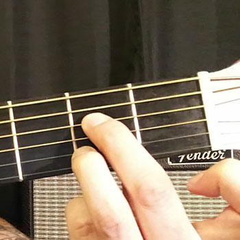 Example of How to Play an Open A Dominant 7 Chord on the Guitar