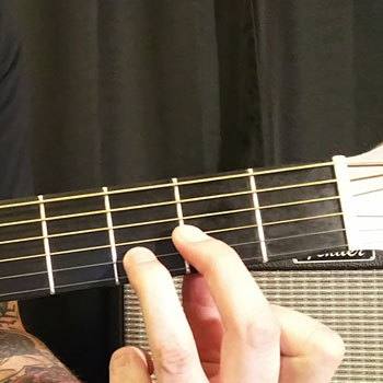 Example of How to Play a D Power Chord on the Guitar