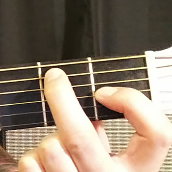 Example of How to Play an Open E Dominant 7 Chord on the Guitar