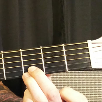 Example of How to Play a G Power Chord on the Guitar
